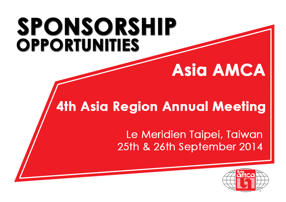 Sponsorship Opportunities for the Asia AMCA 4th Asia Region Annual Meeting