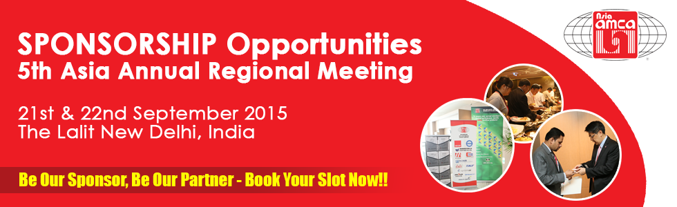 Banner: Sponsorship Opportunities for the 5th Asia Annual Regional Meeting 2015