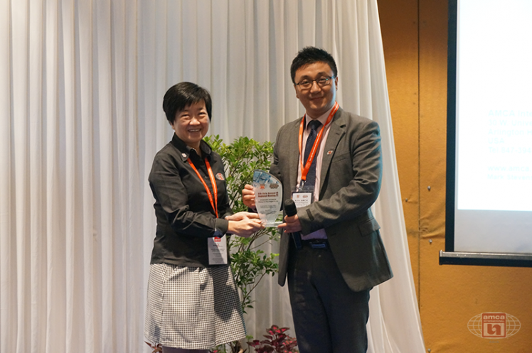 Asia AMCA Annual Regional Meeting 2016: Presenting a Token to Sponsor Zhejiang Lion King