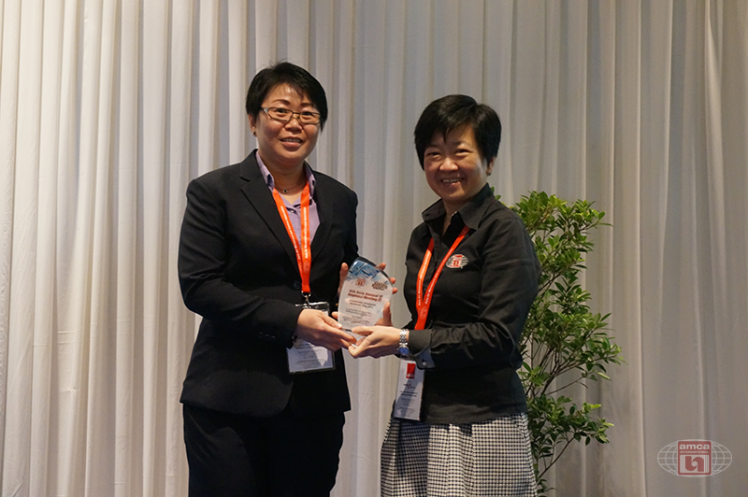 Asia AMCA Annual Regional Meeting 2016: Presenting a Token to Sponsor Systemair