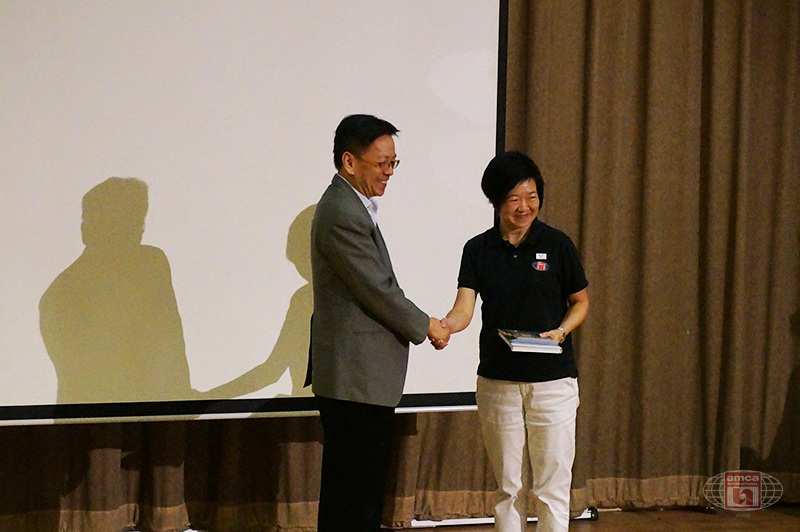 NEA Presenting a Token of Appreciation