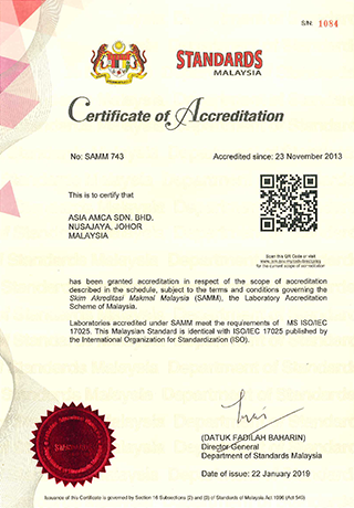 Certificate of Accreditation 17025