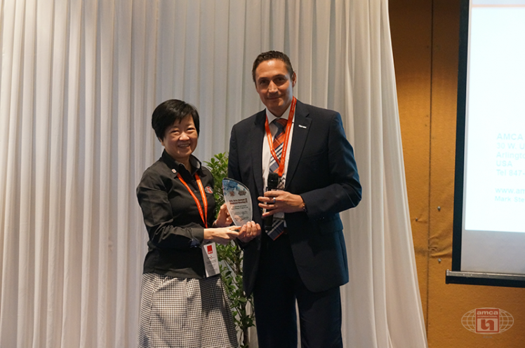 Asia AMCA Annual Regional Meeting 2016: Presenting a Token to Sponsor Ziehl-Abegg